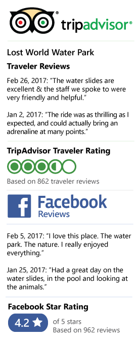 Lost World Water Park Review on Tripadvisor and Facebook
