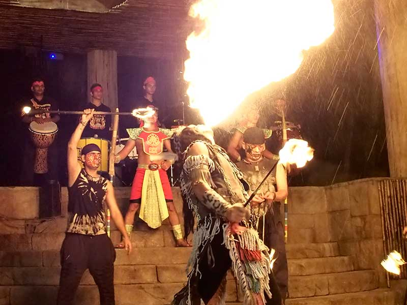 Flaming Percussion - Lost World of Tambun Show