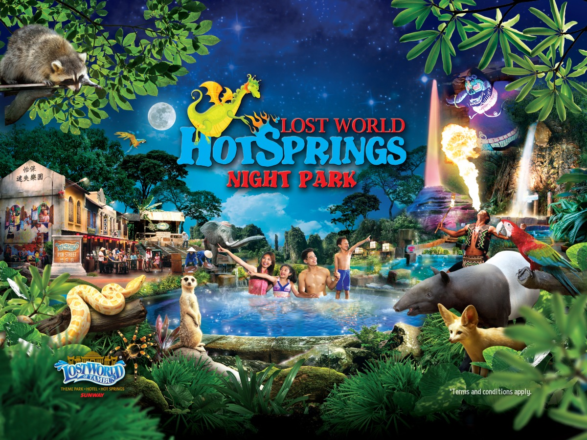 Lost World Hot Springs Night Park
