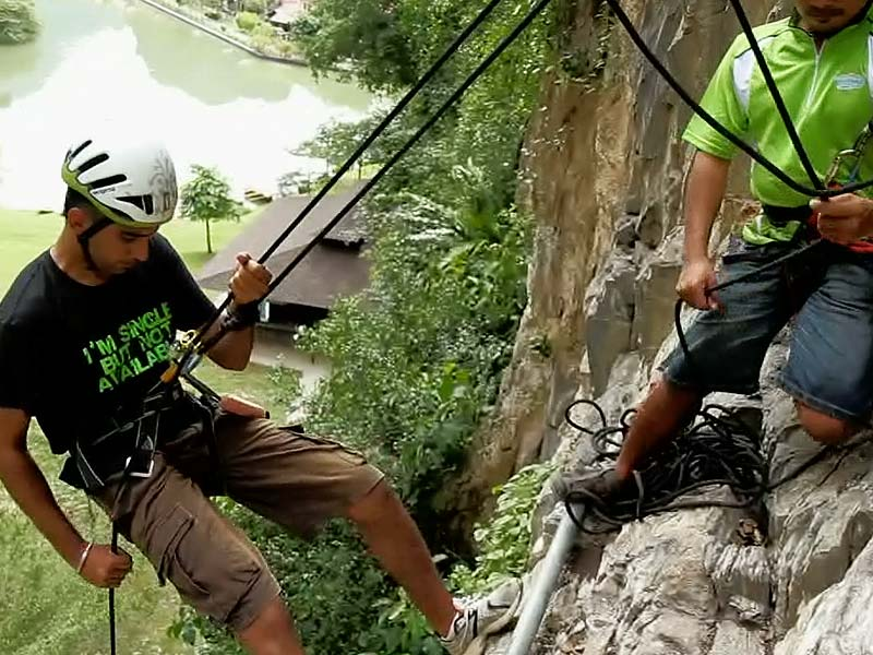 Via Feratta with Abseil - Lost World Adventure Park
